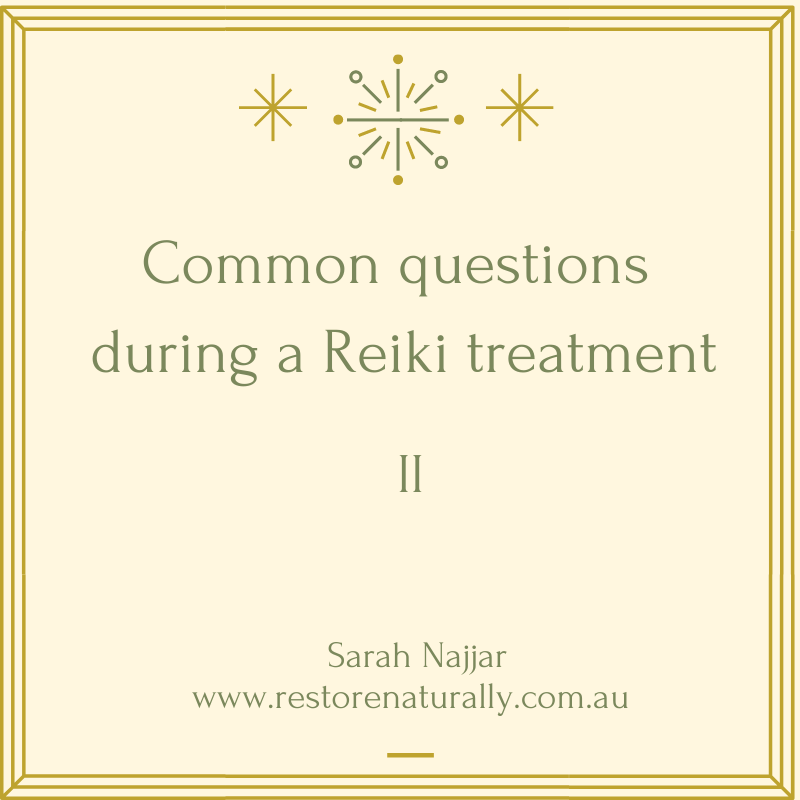 Answers to Reiki questions
