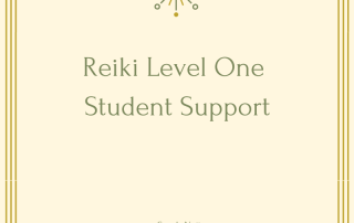 Reiki Level One Student Support